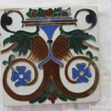 Antigüedades: AZULEJO MENSAQUE. Lote 173843814