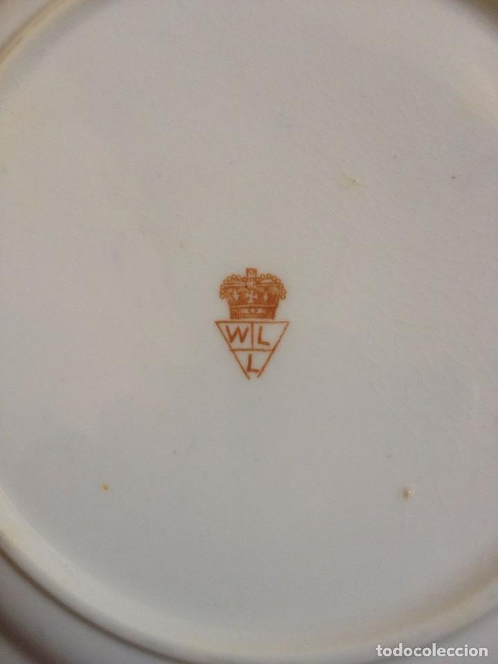 Antigüedades: Juego 6 platos antiguos porcelana inglesa - Foto 3 - 173851725