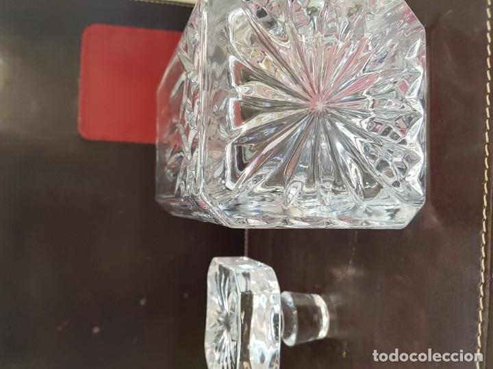 Antigüedades: Licorera Inglesa de Cristal, Plomo tallado - Foto 11 - 173853055