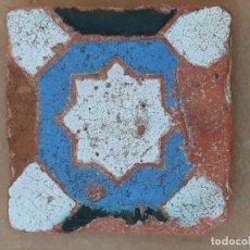 Antigüedades: AZULEJO ANTIGUO DE TOLEDO / SEVILLA - ARISTA - ARABE / MUDEJAR - SIGLO XV- XVI.. Lote 173855358
