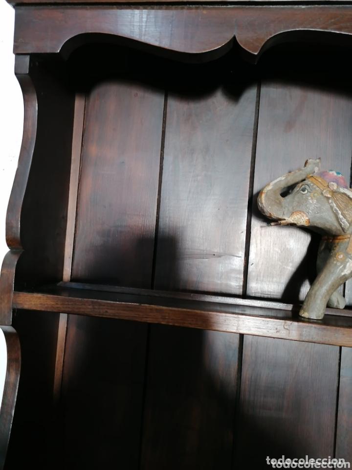 Antigüedades: Platero de roble de dos piezas muy bonito - Foto 3 - 173891839