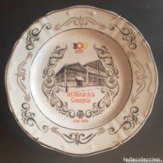 Antigüedades: PLATO DE BARCELONA 100 ANYS DEL MERCAT DE LA CONCEPCIÓ 1888 - 1988. Lote 173897737