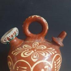 Antigüedades: MUY DECORADO CÁNTARO BOTIJO DE CERÁMICA POPULAR VIDRIADA. Lote 173898273