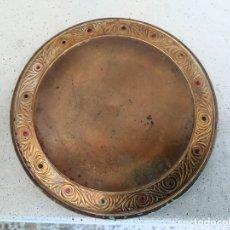 Antigüedades: ANTIGUO ESPEJO DE BOLSO EN BRONCE. Lote 173910643