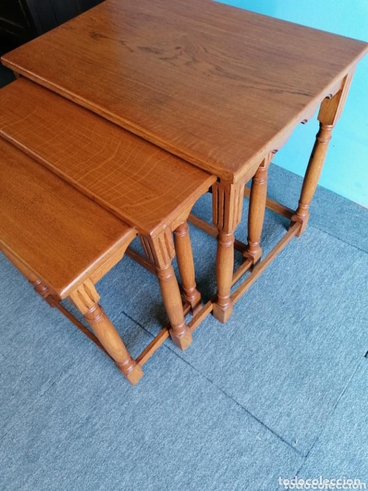 Antigüedades: Meas auxiliar de roble tres mesas - Foto 3 - 173917160