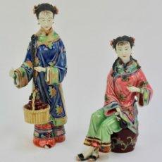 Antigüedades: PAREJA DE FIGURAS DE PORCELANA CHINA. S.XX. . Lote 173917259