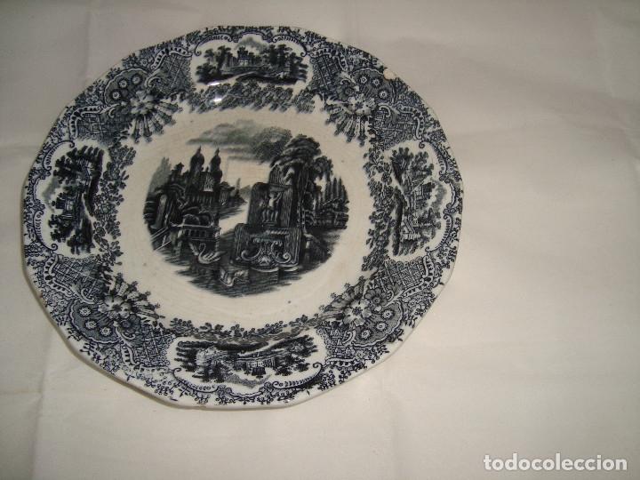 PLATO DE LOZA PICKMAN 24CM. (Antigüedades - Porcelanas y Cerámicas - La Cartuja Pickman)
