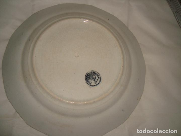 Antigüedades: PLATO DE LOZA PICKMAN 24cm. - Foto 4 - 173931175
