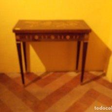 Antigüedades: CARLOS IV MESA DE JUEGO. Lote 173933860