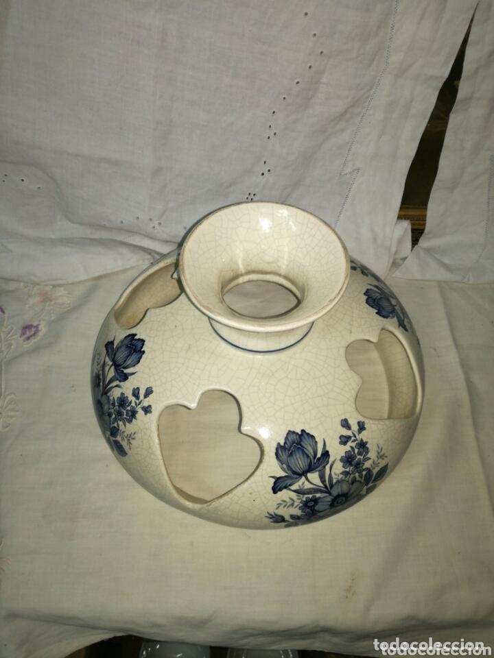 Antigüedades: Tulipa de cerámica para lámpara - Foto 5 - 173936234