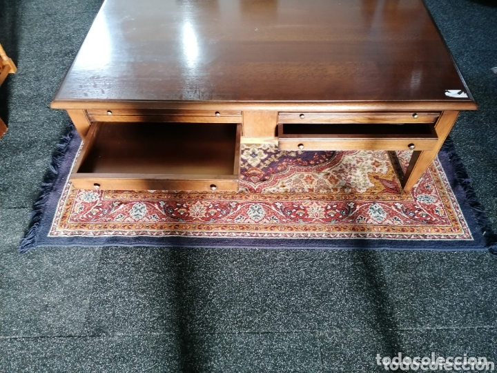 Antigüedades: Mesa de centro de madera de roble en perfecto estado - Foto 3 - 173953872
