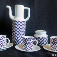 Antigüedades: JUEGO DE CAFE EN PORCELANA CASTRO - SARGADELOS. Lote 173957127