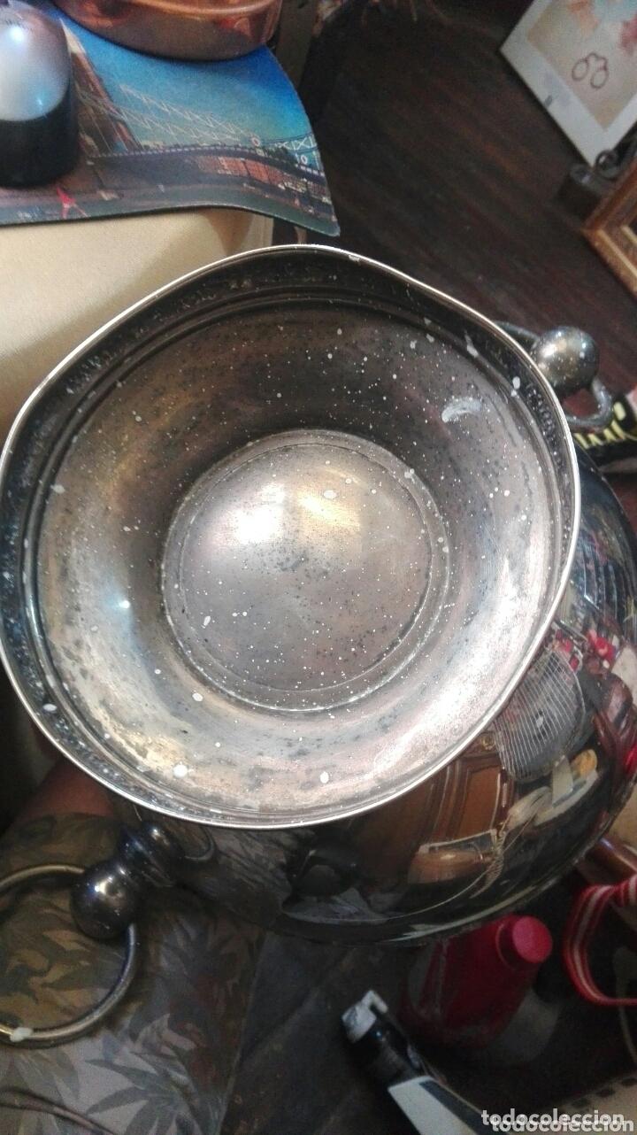 Antigüedades: Centro de mesa metal plateado 30 cm x 19 cm - Foto 3 - 173963437