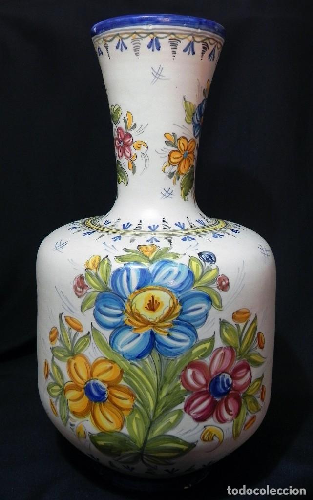 52CM GRAN JARRÓN CERAMICA CATALANA LA BISBAL FIRMADO FLORERO ÁNFORA VINTAGE AÑOS 1960S (Antigüedades - Porcelanas y Cerámicas - La Bisbal)
