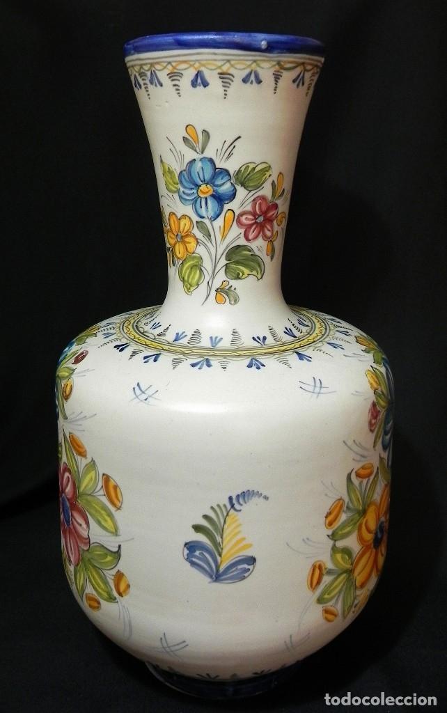 Antigüedades: 52cm GRAN Jarrón Ceramica Catalana LA BISBAL firmado Florero Ánfora Vintage Años 1960s - Foto 3 - 173965792