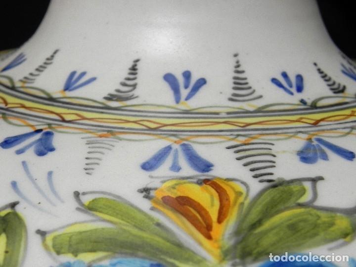 Antigüedades: 52cm GRAN Jarrón Ceramica Catalana LA BISBAL firmado Florero Ánfora Vintage Años 1960s - Foto 13 - 173965792