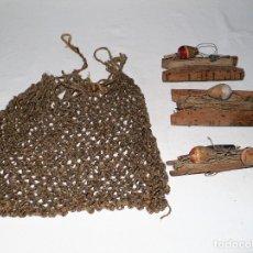 Antiguidades: ANTIGUOS APAREJOS PESCA DE RIO. Lote 173976710