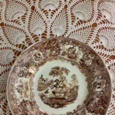 Antigüedades: PLATO HONDO STONE CHINA - GREEK STATUE.. Lote 173983358