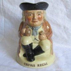 Antigüedades: JARRA CERÁMICA CHIVAS REGAL TONY WOOD. Lote 173989752