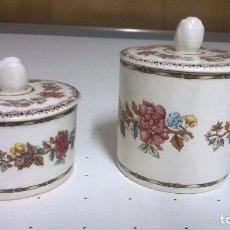Antigüedades: 2 TARROS DE PORCELANA SAN CLAUDIO. Lote 173996690