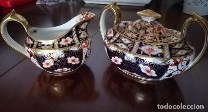 ROYAL CROWN DERBY IMARI DESIGN SUGAR AND MILK JUG 2451 (Antigüedades - Porcelanas y Cerámicas - Otras)