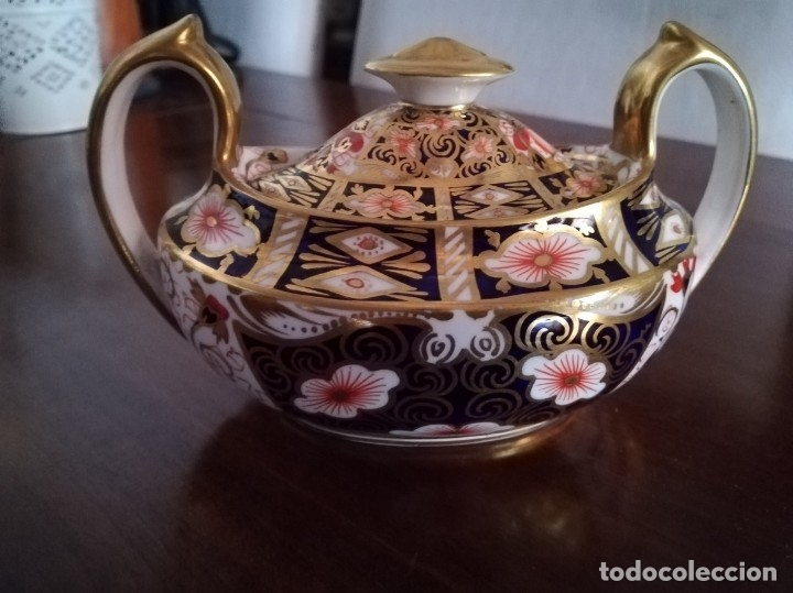 Antigüedades: Royal Crown Derby Imari Design Sugar and Milk Jug 2451 - Foto 2 - 174001070