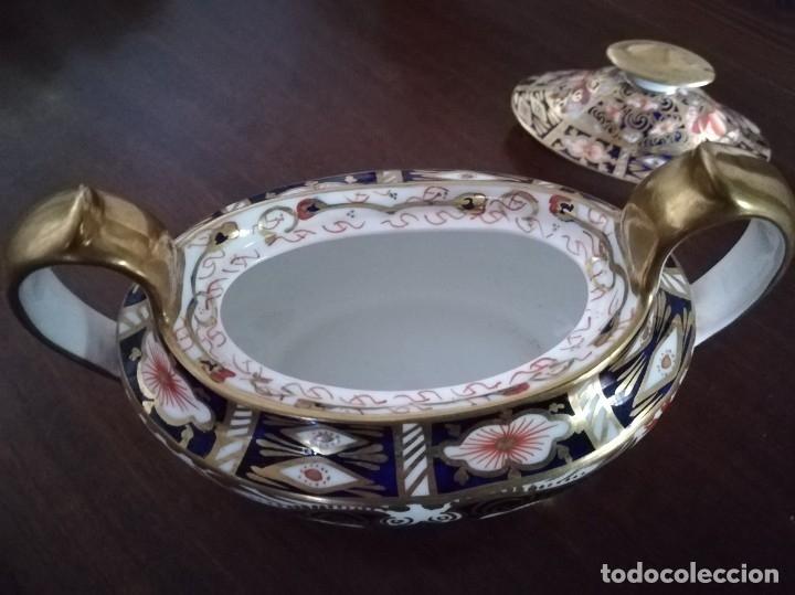 Antigüedades: Royal Crown Derby Imari Design Sugar and Milk Jug 2451 - Foto 3 - 174001070