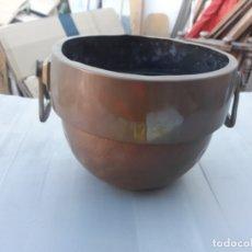 Antigüedades: MACETERO DE COBRE. Lote 174004109
