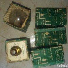 Antigüedades: LOTE DE 5 BOMBILLAS ANTIGUAS LUMEN ESPAÑA , 125-130V 40W. Lote 174016854