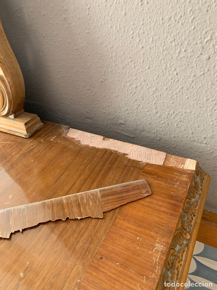 Antigüedades: COMODA DE HABITACION O TOCADOR CON ESPEJO, 110 CM. DE LARGO - Foto 20 - 174017202