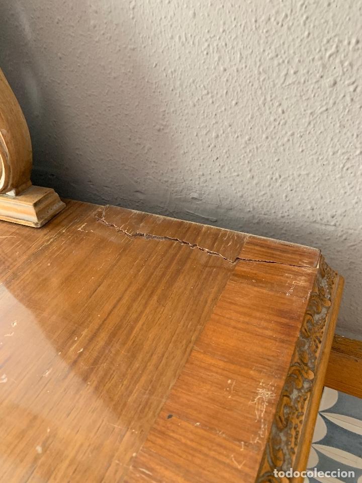 Antigüedades: COMODA DE HABITACION O TOCADOR CON ESPEJO, 110 CM. DE LARGO - Foto 21 - 174017202