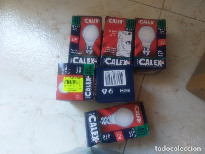 Antigüedades: lote de 12 bombillas calex 12v 40 w - Foto 2 - 174017927