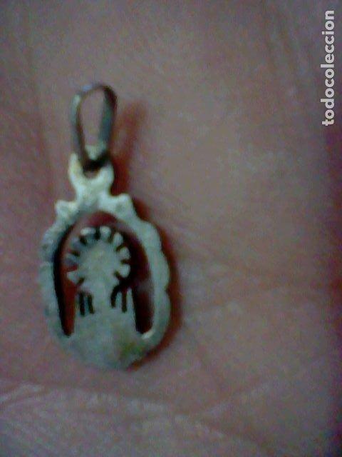 Antigüedades: VIRGEN PILAR MEDALLA CALADA - Foto 2 - 174029208