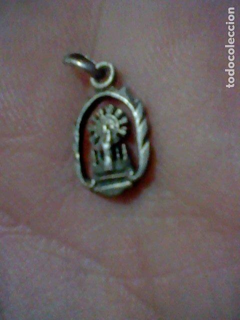 VIRGEN PILAR MEDALLA CALADA (Antigüedades - Religiosas - Medallas Antiguas)