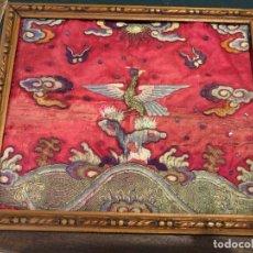 Antiquités: BORDADO CHINO AVE FENIX S. XIX. Lote 174029497