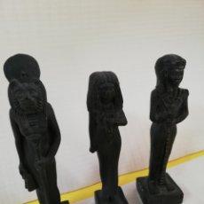 Antigüedades: ANTIGUO CONJUNTO DE ESCULTURAS EGIPCIAS. Lote 174033848