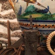 Antigüedades: SANTOS ÓLEOS XVII EN ESTAÑO. Lote 174042204
