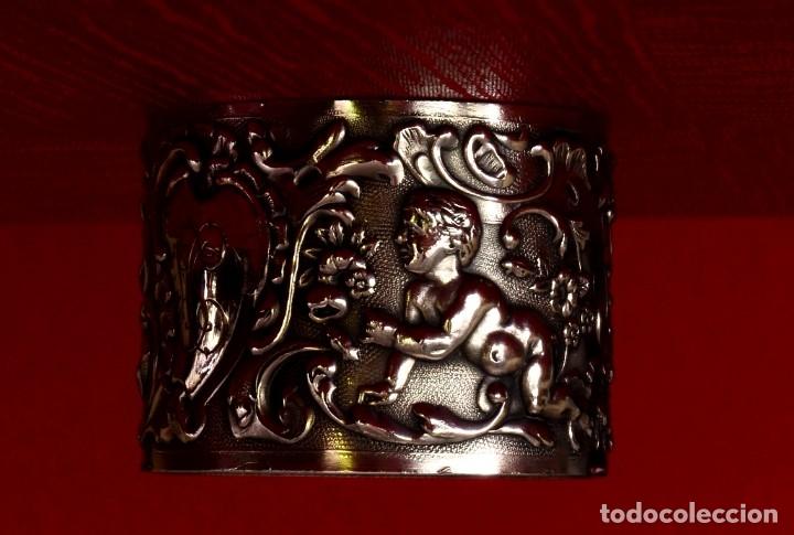 Antigüedades: ESPECTACULAR SERVILLETERO DE PLATA MACIZA VINTAGE - Foto 3 - 174053934