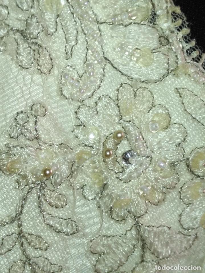 Antigüedades: traje novia SWEETHEART BORDADO y tul bordado hilo plata confecciones ropa virgen semana santa - Foto 14 - 174062165