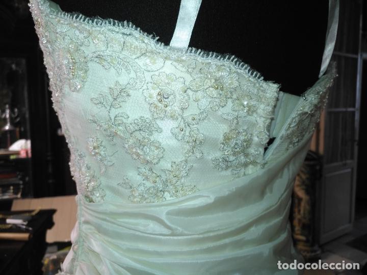 Antigüedades: traje novia SWEETHEART BORDADO y tul bordado hilo plata confecciones ropa virgen semana santa - Foto 16 - 174062165
