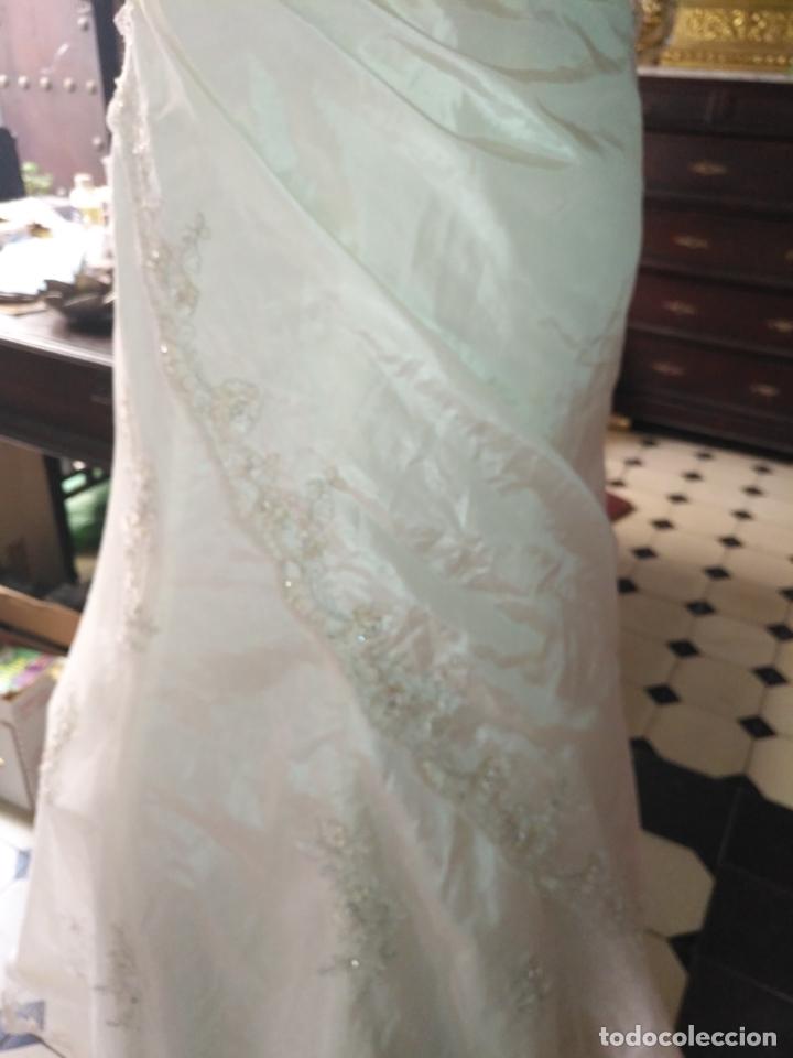 Antigüedades: traje novia SWEETHEART BORDADO y tul bordado hilo plata confecciones ropa virgen semana santa - Foto 19 - 174062165
