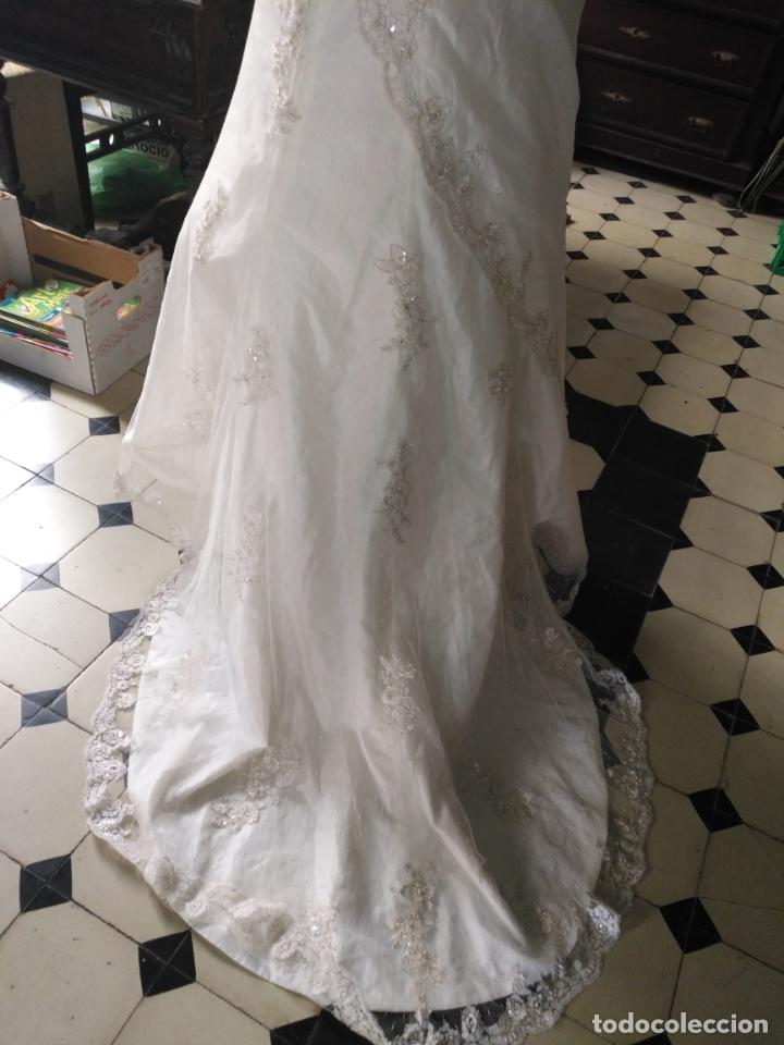 Antigüedades: traje novia SWEETHEART BORDADO y tul bordado hilo plata confecciones ropa virgen semana santa - Foto 20 - 174062165
