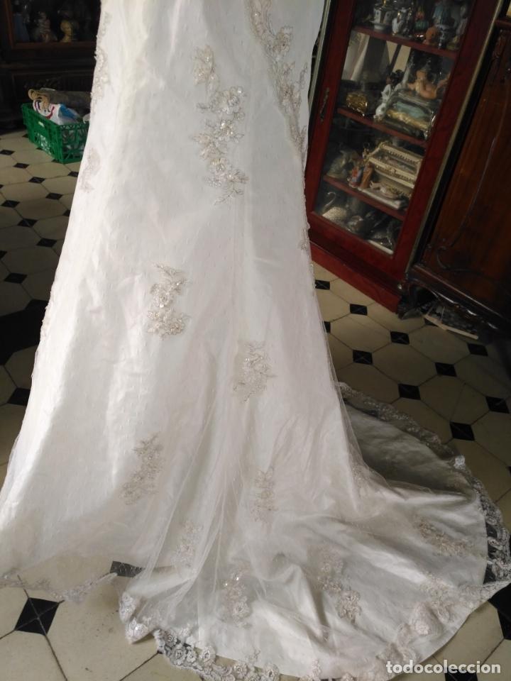 Antigüedades: traje novia SWEETHEART BORDADO y tul bordado hilo plata confecciones ropa virgen semana santa - Foto 21 - 174062165