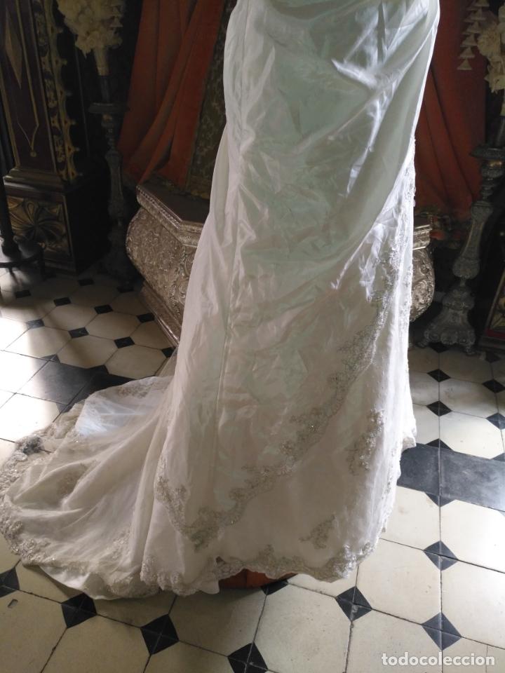 Antigüedades: traje novia SWEETHEART BORDADO y tul bordado hilo plata confecciones ropa virgen semana santa - Foto 23 - 174062165