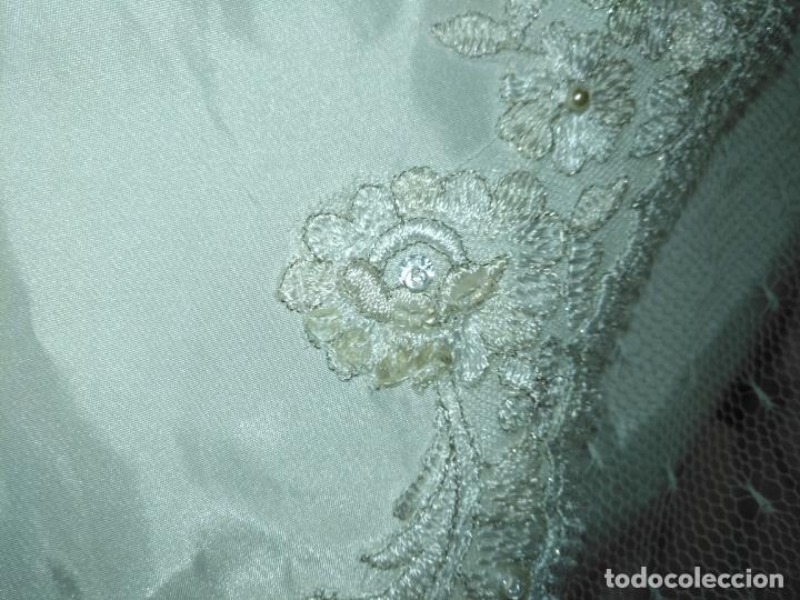 Antigüedades: traje novia SWEETHEART BORDADO y tul bordado hilo plata confecciones ropa virgen semana santa - Foto 24 - 174062165