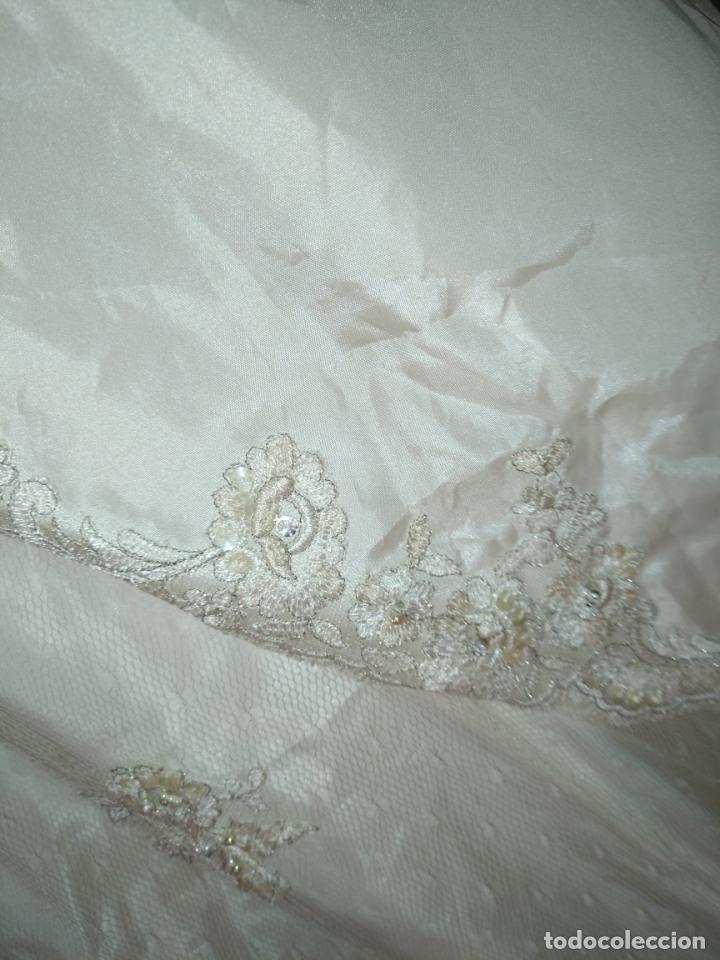 Antigüedades: traje novia SWEETHEART BORDADO y tul bordado hilo plata confecciones ropa virgen semana santa - Foto 26 - 174062165