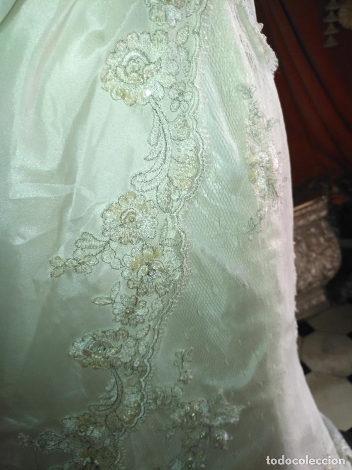 Antigüedades: traje novia SWEETHEART BORDADO y tul bordado hilo plata confecciones ropa virgen semana santa - Foto 30 - 174062165