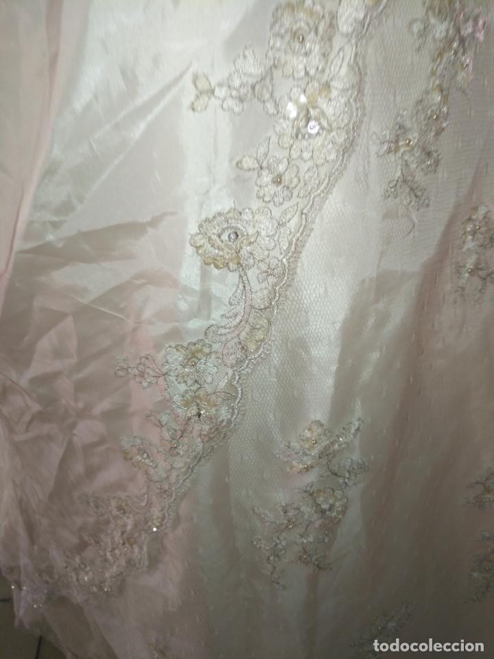 Antigüedades: traje novia SWEETHEART BORDADO y tul bordado hilo plata confecciones ropa virgen semana santa - Foto 31 - 174062165