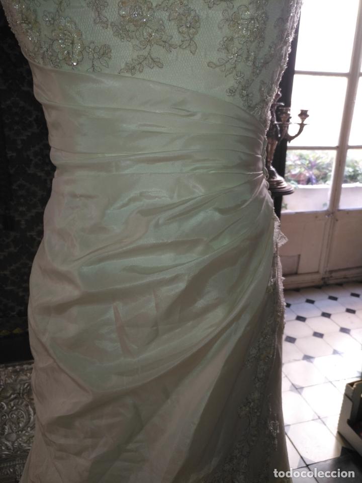 Antigüedades: traje novia SWEETHEART BORDADO y tul bordado hilo plata confecciones ropa virgen semana santa - Foto 32 - 174062165