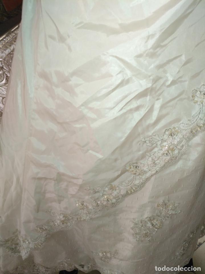 Antigüedades: traje novia SWEETHEART BORDADO y tul bordado hilo plata confecciones ropa virgen semana santa - Foto 33 - 174062165